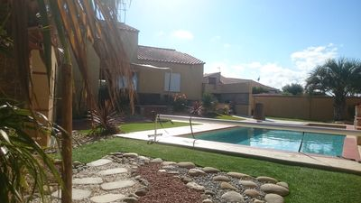 Photo for air-conditioned villa with heated pool and jacuzzi