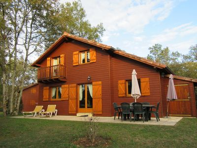 Photo for Chalet in the woods of beautiful Dordogne valley