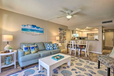 Retreat to this beachy condo and enjoy a private getaway in St. Augustine!