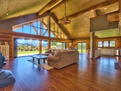 Photo for Unique Modern Log Home - Stunning Mountain Views - Glenorchy Township