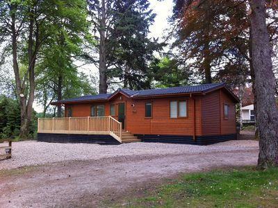 Photo for Luxury Lodge With Large Decking Area Overlooking The Famous Birnam Hill
