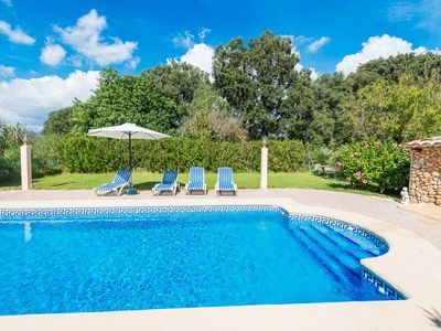 Photo for SA FIGUERA BLANCA - Villa with private pool in Buger.
