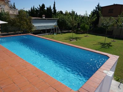 Photo for Villa Formentera for 6 pers. with private pool 300m from the beach of Oliva