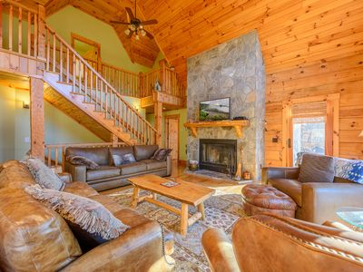 Photo for Log Cabin in Gated Community, Mountain Views, Game Room, Pool Table, 2 King Suites & More