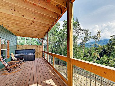 Photo for New Listing! Gorgeous Cabin w/ Mountain Views, Hot Tub & Game Room