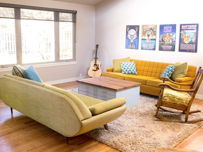 Photo for Sparkling, Modern & Bright--2 Master Suites, Hot Tub, Outdoor Living & Dog Happy
