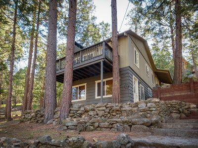 Photo for Quiet, warm cabin in wooded setting w/ foosball table and room for the family!