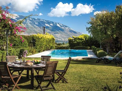 Photo for 3 bedroom Villa, sleeps 6 in Spartiá with Pool, Air Con and WiFi