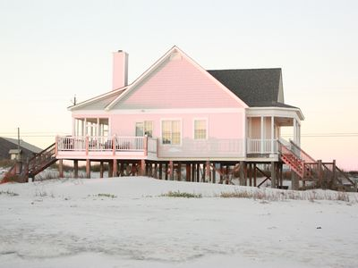 Photo for BEACH FRONT GULF SIDE spacious home! Step right on to the beach!