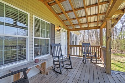 You'll love relaxing on the porch.