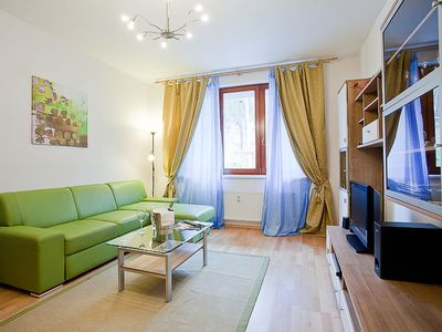 Photo for Radlická Woods apartment in Smíchov with WiFi, private parking & lift.