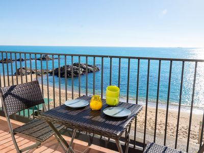 Photo for LES FORMIGUES 3-seafront apartment-Calella de Palafrugell-Costa Brava