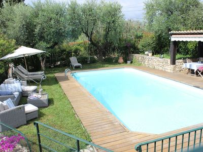 Photo for Panoramic sea and hills, large pool, superb Provencal villa