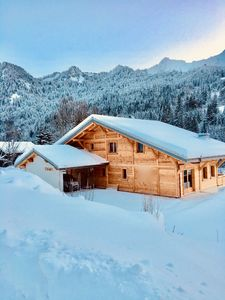 Photo for NEW !!!  app 13 places in chalet in Châtel / La Chapelle 500 m from the slopes!