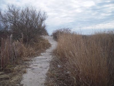 pathway to private beach or Salty Brine Beach