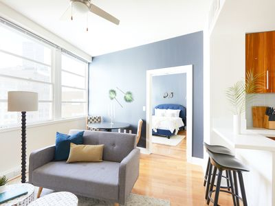 Photo for Sonder | Duncan Plaza | Vibrant 1BR + Pool