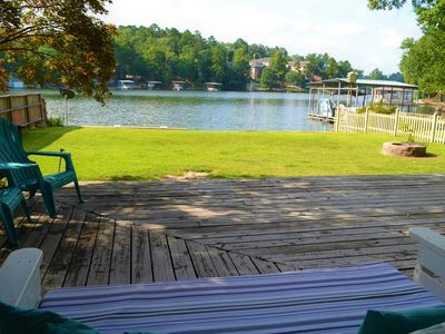 Photo for The lake is your front yard! New Deck 2019! Private boat parking!