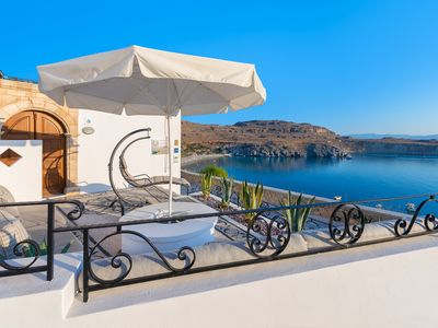 Photo for Luxury Lindos Shore Boutique Villa for rent  just above Lindos Main Beach !!!