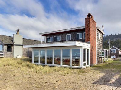 Photo for Dog-friendly, oceanfront cottage steps from the beach w/ gorgeous views