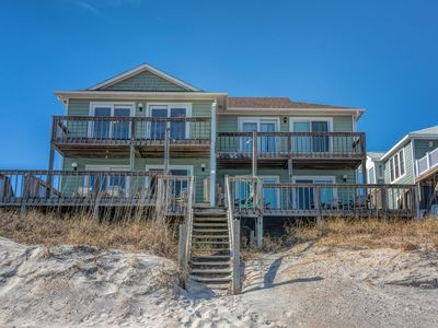 Photo for A Breath of Fresh Aire - the beach comes right up to your deck!!