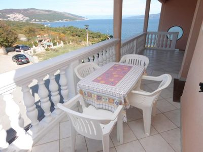 Photo for One bedroom apartment with terrace and sea view Duga Luka (Prtlog), Labin (A-2367-c)