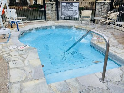 Year Round Hot Tub & Summer Pool across the parking lot at the Wyndham Resort