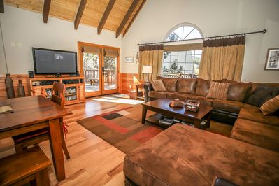 Living Room  - Living room with large sectional, plenty of seating, flat screen TV with cable