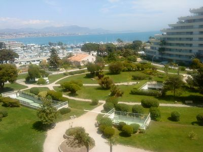 Photo for 2 P MARINA BAY OF ANGELS, magnificent sea views and direct access to the beach