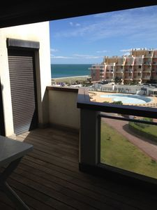 Photo for Apartment sea view, parking and close to shops