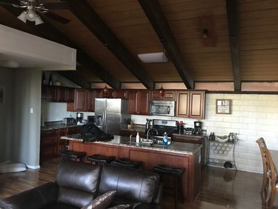 Spacious open kitchen: Coffee, blender, toaster, toaster oven, & more!