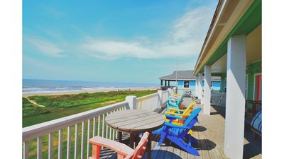 Photo for NEW!! Beautiful 1st Row Beachfront Retreat With Unobstructed Views of The Ocean!