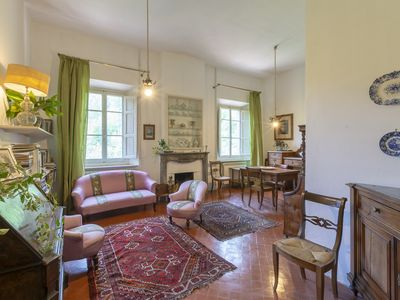 Photo for Luxury  3 bedroom apartment in ancestral villa close to Florence