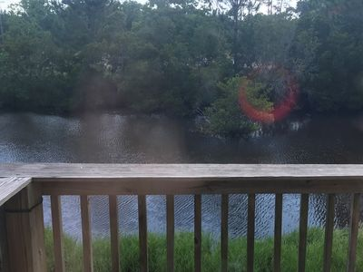 Photo for 4 bd 3 ba Sleeps 10 overlooking fishing pond