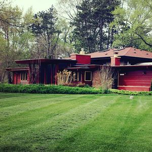 Welcome to our Frank Lloyd Wright inspired home!