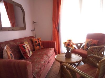 Photo for Peaceful Porto Antigo Lux 1 Bed Apt Views pool/sea. All mod cons, Air con/wifi.