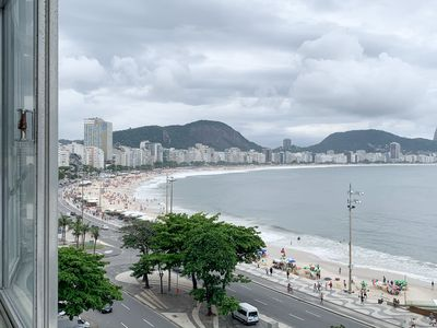 Photo for A802 CaviRio - Copacabana beach front with balcony