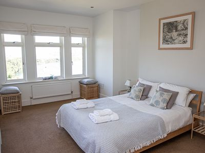 Photo for Island View (White Horses) - Spacious first floor apartment in Bantham, S.Devon