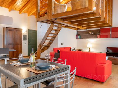 Photo for Beautiful loft in the center of Bellagio, from 2 to 4 beds, air conditioning