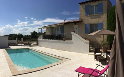 Photo for Holiday rental with pool in the Alpilles with a nice view 8 people