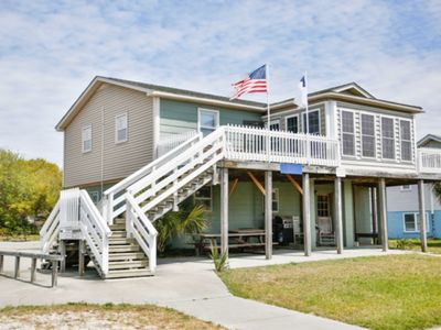 Photo for ACROSS FROM BEACH ACCESS! 6 BR, 3 BA - Perfect Older Beach Home for Large Families! Easy Beach Access!! Most Affordable, Great Location!