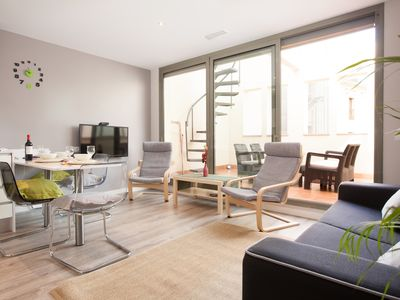 Photo for Paseo de Gracia modern apartment with private terrace next to the Ramblas