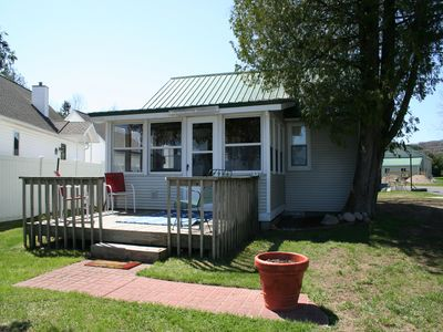Photo for Relaxing Lake Leelanau waterfront cottage 50' from the water!