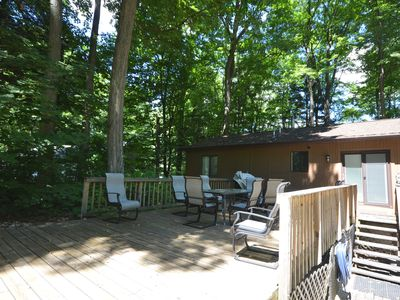 Photo for Updated Traverse City home in wooded setting, air conditioning
