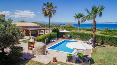 Photo for House in front of the sea for 6 with swimming pool, beach at 50m, Colonia Sant Pere, Mallorca