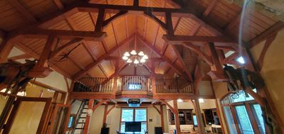 The hewn beam work is a piece of art.  The vaulted ceilings are beautiful.