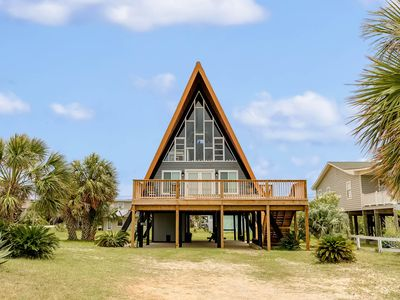 Photo for Unique, beachside A-frame w/porches, fantastic views & ocean access