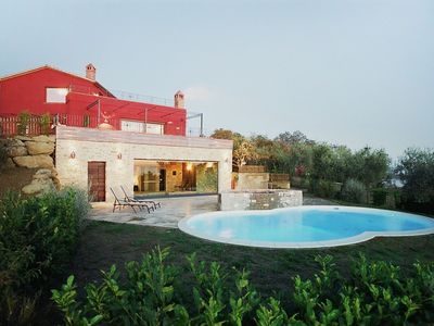 Photo for Stunning private villa with hot tub, WIFI, A/C, private pool, TV, pets allowed and parking