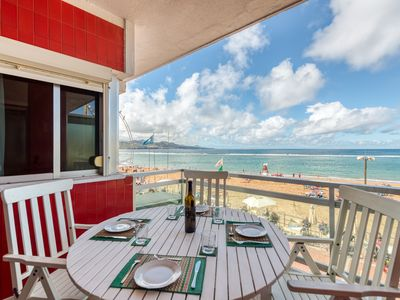 Photo for One bedroom apartment with terrace and sea view
