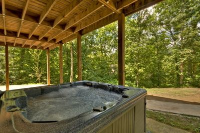 Luxurious hot tub located off Terrace Level