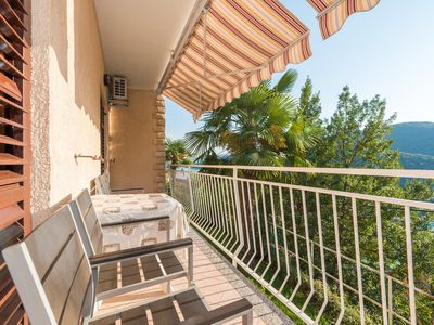 Photo for Villa Adria Rabac / A3. Two bedroom apartment with beautiful sea view, two bathrooms, outdoor grill, ideal for family holidays.